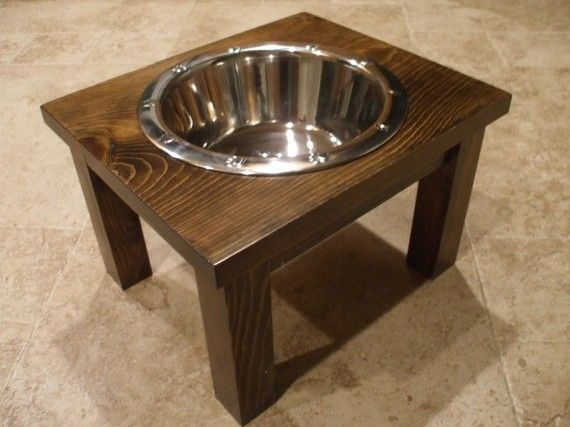 Raised Dog Feeder 2 Qt 8 Inch Single - Classic Design - Elevated Pet Feeder - Raised Dog Bowl - Elevated Dog Bowl - Dog Bowl Stand