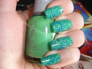 Green on Green Swirl