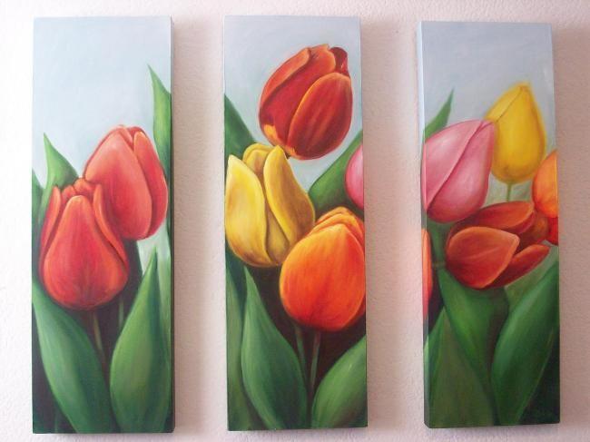 Tríptico tulipanes C Ceballos