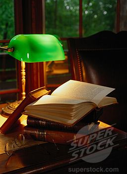 Bankers lamp for the study.