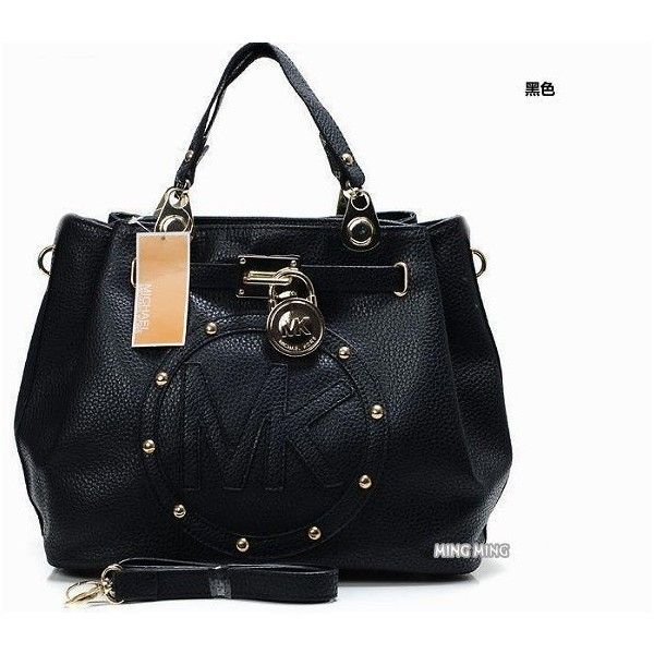 2013 Brand mk women fashion handbag/pu leather vintage style shoulder... ❤ liked on Polyvore