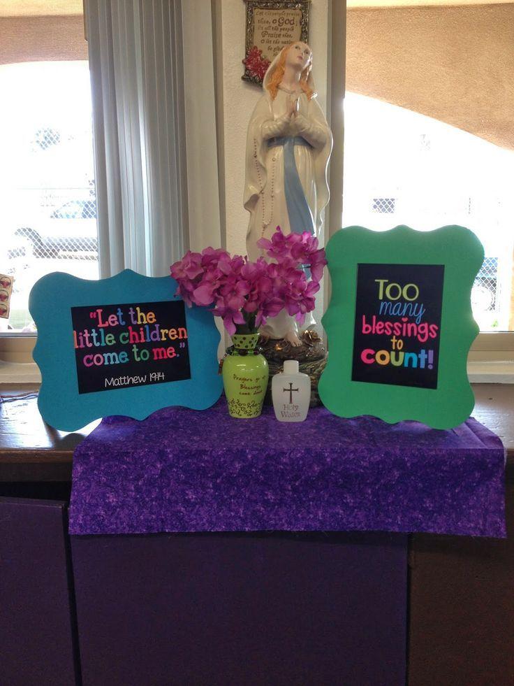 Classroom Prayer Ideas ~ Best catholic prayer table ideas images on pinterest