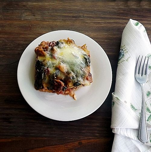 Polenta Lasagne for #SundaySupper and a #Giveaway - Blueberries and Blessings I'll make it without meat