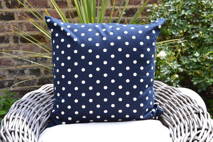Navy Polka Dot Cushion Cover £22.00
