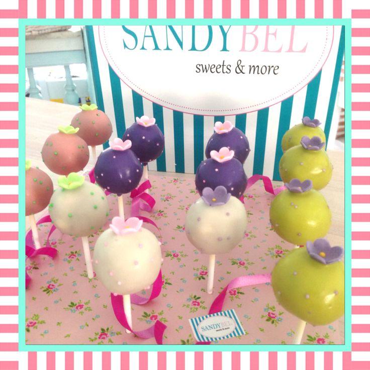 Flower Power #cakepops by #sandybel #flower #blumen #flowerpower #sweets #nürnberg #fürth #cupcakes #kuchen