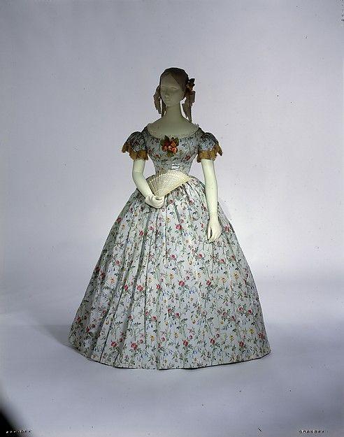 1850 evening dress