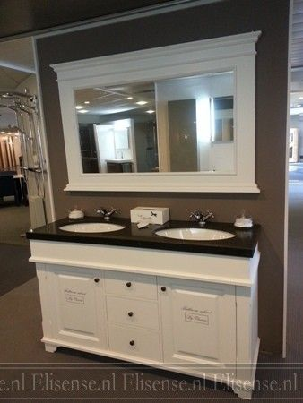 Badkamermeubel landelijke stijl blanche badkamer pinterest - Outs badkamer m ...
