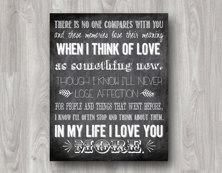 In My Life Lyrics Quote by The Beatles Typography by scootapie, $5.00