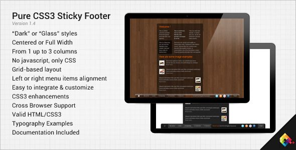 CSS - Pure CSS3 Sticky Footer | CodeCanyon