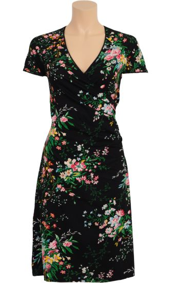 Vintage Inspired Autumn | ❀ | Cross Dress Black - Magnolia Flowers | ❀ | King Louie AW14