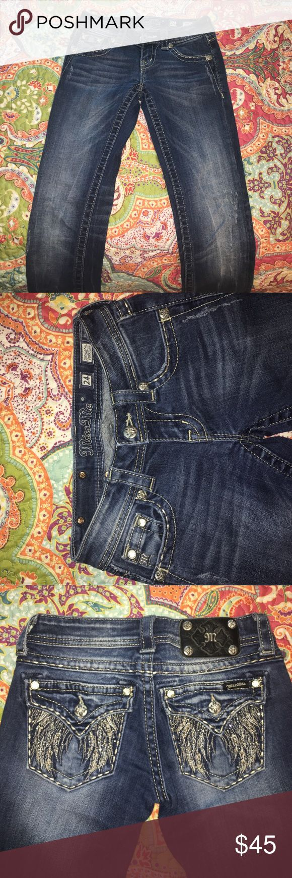 MissMe straight cut jeans MissMe straight cut jeans size 24; flawless condition! Too small for me now 😔 Jeans Straight Leg