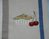 Linen Towel, Kitchen, Hand, Tea, Dish Towel Embroidery Ready to Ship!