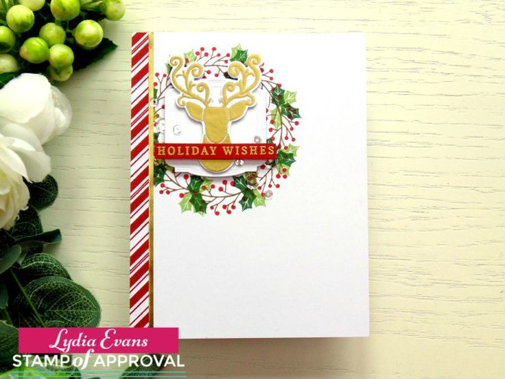Fabulous handmade holiday card  with the Candy Cane Lane Collection.  www.cpstampofapproval.com