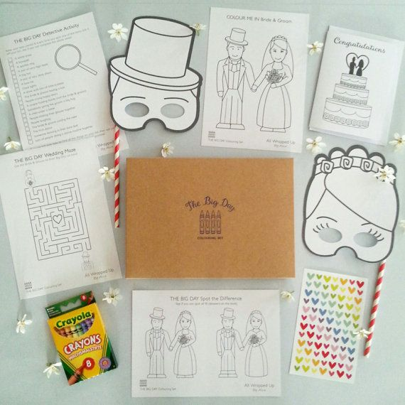 Children's Wedding Favour / Busy Bag / Activity by WrappedByAlice