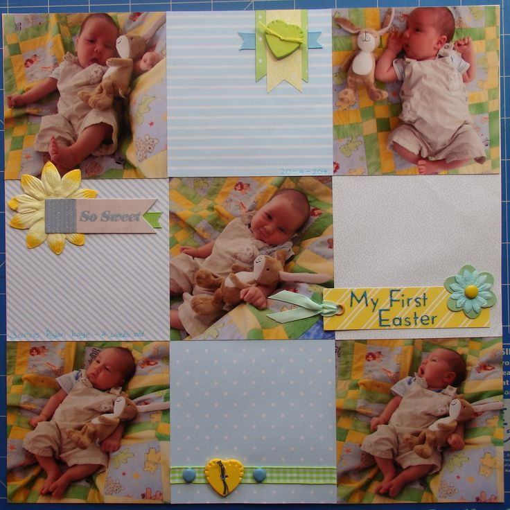 Scrapbook page by Laura: My first Easter