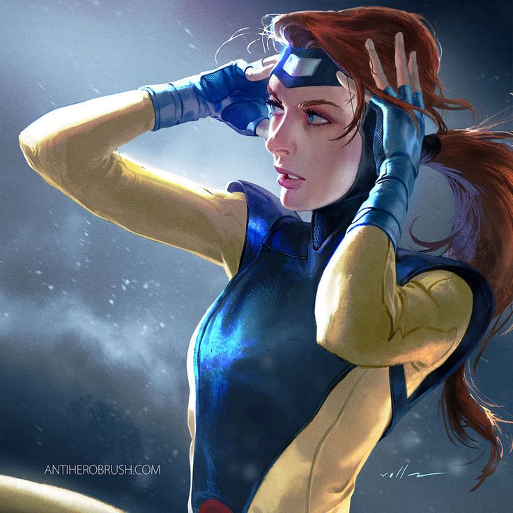 Time for some red headed action. Jean grey. Having a blast doing this xmen stuff. follow me on twitter for some process gifs at: twitter.com/Cf_villaart