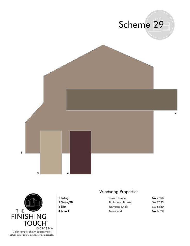 Exterior Window Color Schemes Exterior Classic Roof Tile Feat