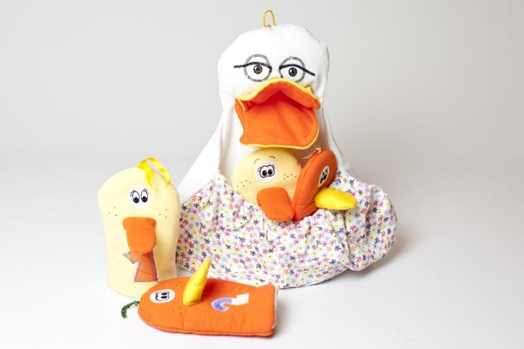 """""""Five little ducks"""" in a pocket ,Hand puppet set - £ 19.99"""