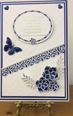 Blue & White - Featuring the Retirement Verse Collection Stamps | Phills' Crafty Place | Bloglovin'