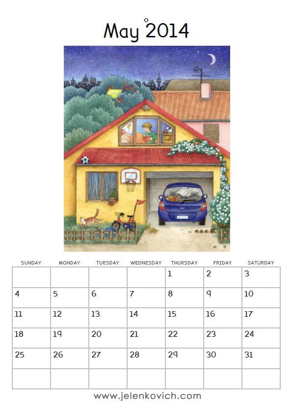 Barbara Jelenkovich's FREE PRINTABLE CALENDAR 2014 - MAY - FREI BEDRUCKBARE KALENDER - APRIL #freeprintablecalendar #may2014 www.jelenkovich.com