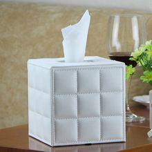 Качество ИСКУССТВЕННАЯ кожа площади бытовой tissue box hotel салфетке держатель современная мода(China (Mainland))