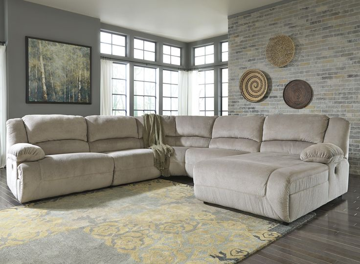 1000 ideas about reclining sectional on pinterest for Ashley microfiber sectional with chaise