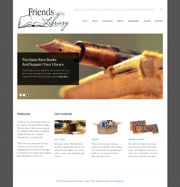 Friends of the Library Website Design. Website Design. Marketing. Graphic Design