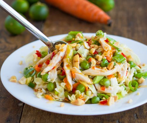 Can't wait to try!  Asian Chicken Salad with Sesame Chili Vinaigrette — Pinch of Yum