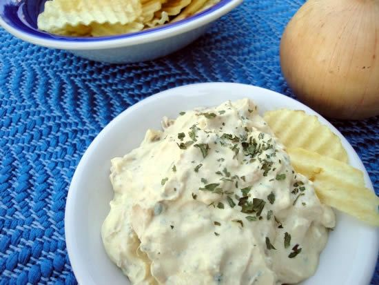 Homemade French Onion Chip Dip by Katie Kimball, from eatingrules.com ...