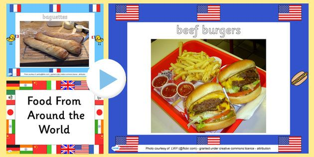 Food From Around The World Powerpoint