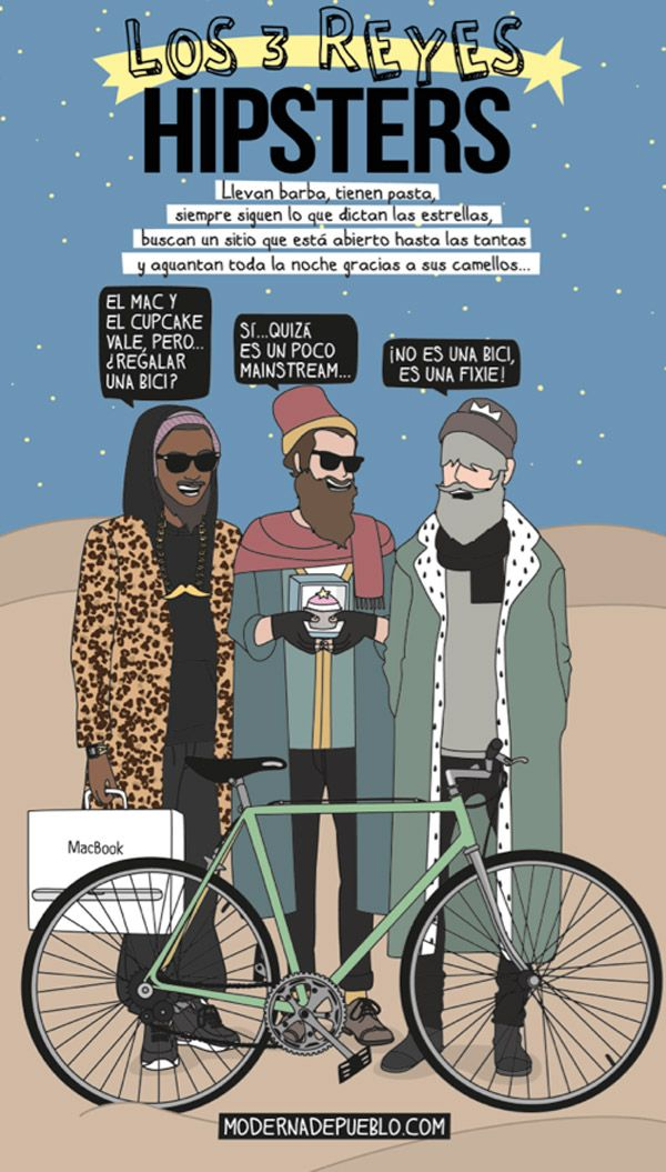 Los tres reyes hipsters
