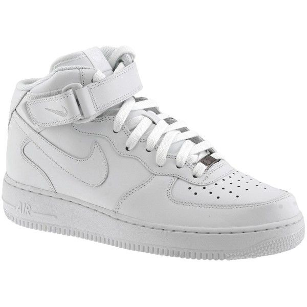Nike Air Force1 Sneaker White Mens Trainers Shoes Sport Man New uk... ❤ liked on Polyvore featuring mens, men's shoes, men's sneakers, shoes, sneakers and nike
