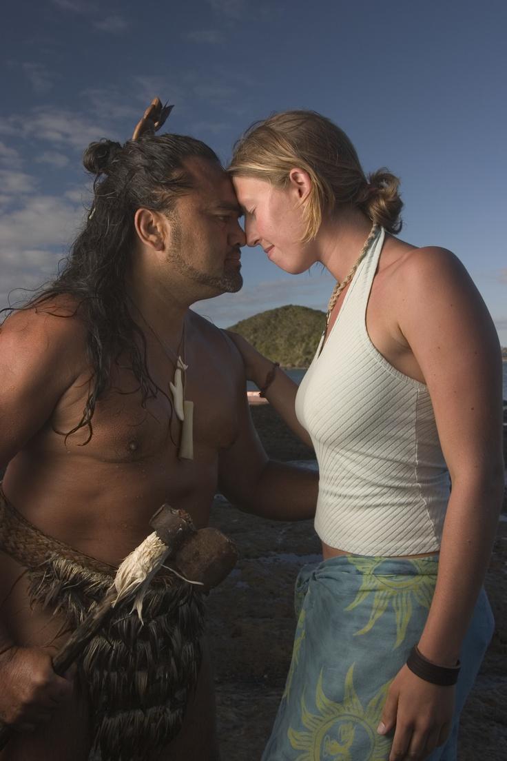 Nieuw Zeeland, de hongi met Māori