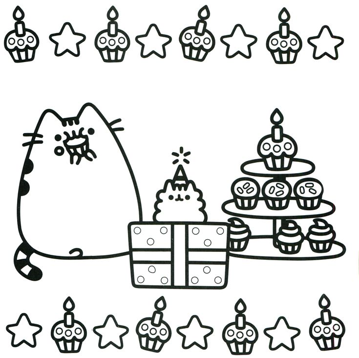 Coloring Pages Pusheen : Images about coloring pages on pinterest