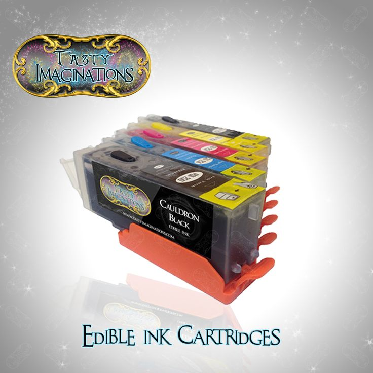 Edible Canon Ink Cartridges CLI-251 & PGI-250 (5 pack) with RESETTABLE CHIPS