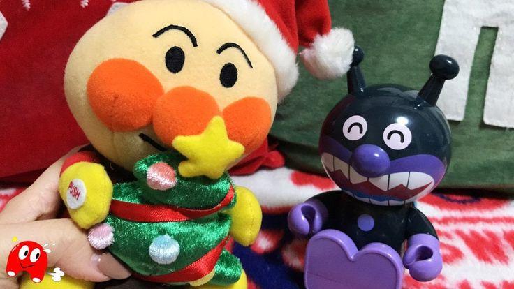 アンパンマン アニメ❤おもちゃ もうすぐクリスマス♪バイキンマンにサンタさんの帽子を作ってあげたよ♪