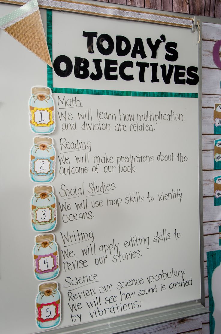 Classroom Decoration Ideas Forjaar ~ Best objectives board ideas on pinterest