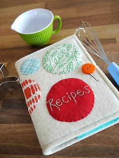 Recipe book cover tutorial