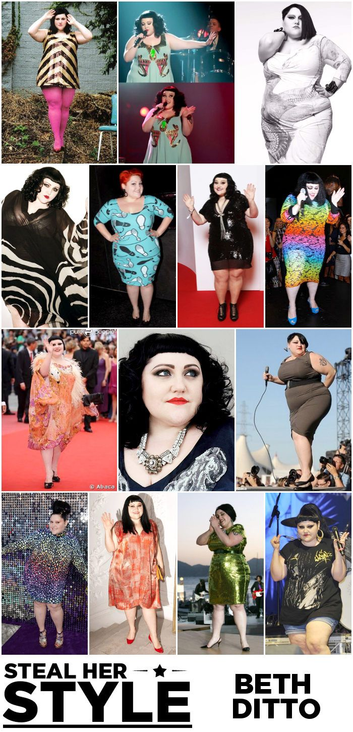 Beth Ditto Steal Her Style Outfit Collage