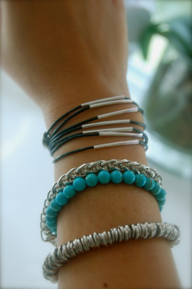 DIY Leather Wrap Bracelet diy decorating ideas hand made| http://handmadegerardo.blogspot.com