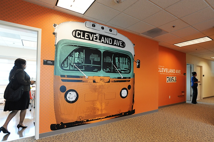 YWCA LA HEADQUARTERS - COMPLETED WALL GRAPHICS