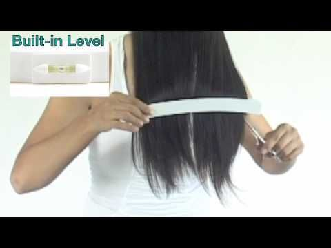 How to layer cut hair tutorial - Cutting Layers on yourself at home with CreaClip
