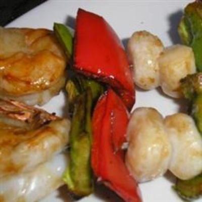 Scallop and Shrimp Kabobs: Sesame Oil, Shrimp Kebabs, Seafood, Cute Ideas, Shrimp Kabobs Recipes, Savory Kabobs, Cooking Scallops, Great Ideas, Allrecipes Com