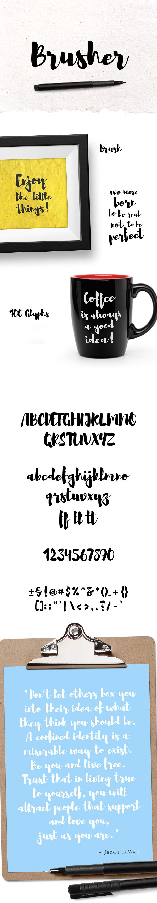 Brusher бесплатный рукописный шрифт скачать