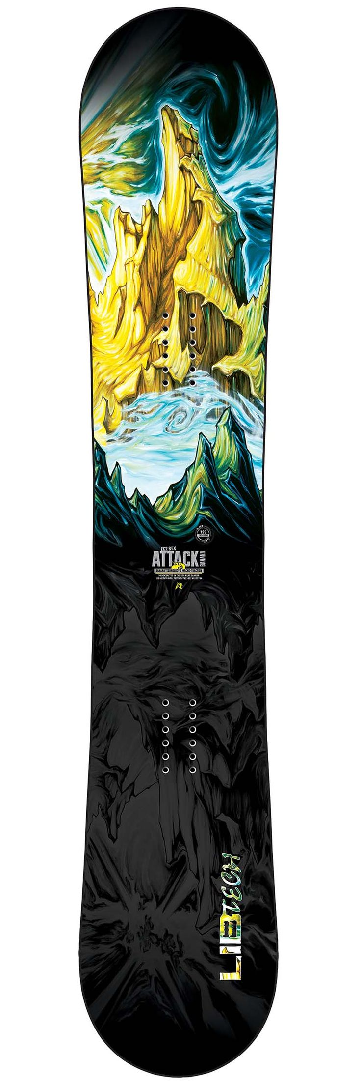 Lib tech attack banana avec images planche snowboard