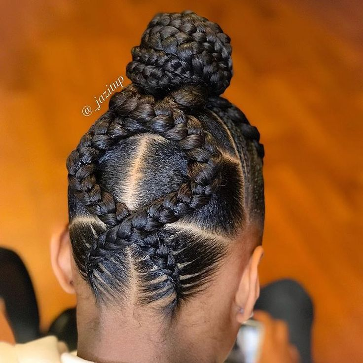 Goddess braid updo… Don't mind the oil spots, I can't stand dry hair so I drow…   – Braid Recipes
