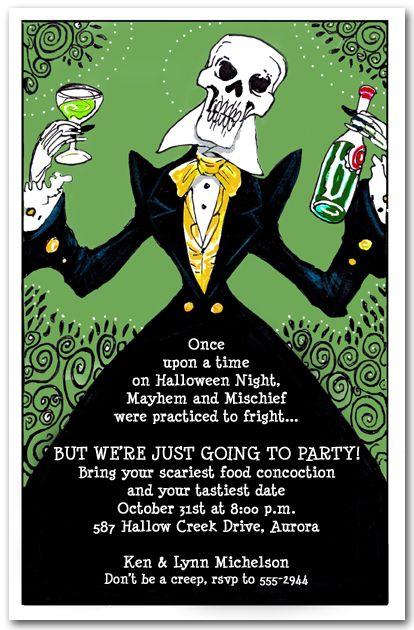 97 best halloween invitations images on pinterest halloween elegant skeleton stopboris Image collections