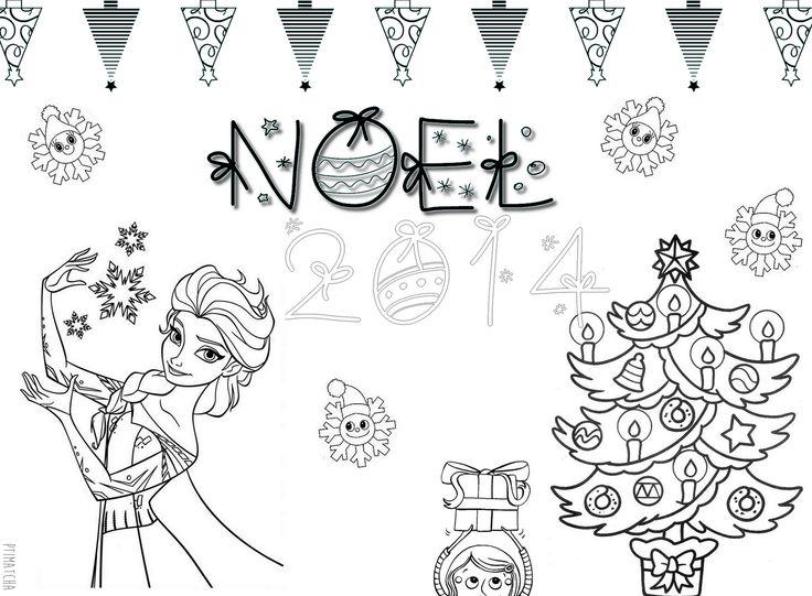 Coloriage | A4 avec 2cm de bordure | Reine des Neiges  NOEL 2014 | École Maternelle