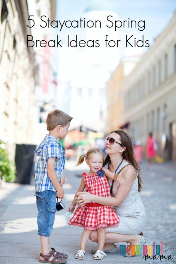 5 Staycation Spring Break Ideen für Kinder   – Spring Activities for Kids
