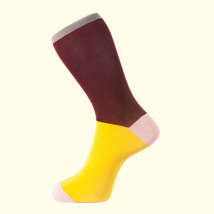 Block Colour Sock in Burgundy